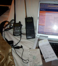 A Yaesu, a scanner and some notes