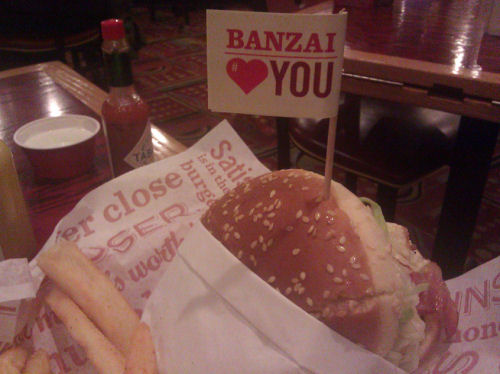 Thanks for this picture of a Banzai Burger, Carlito!