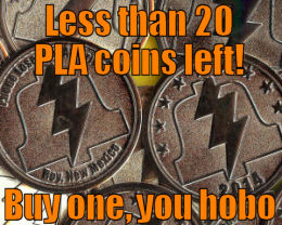 Buy a 2014 PLA coin before they're gone!