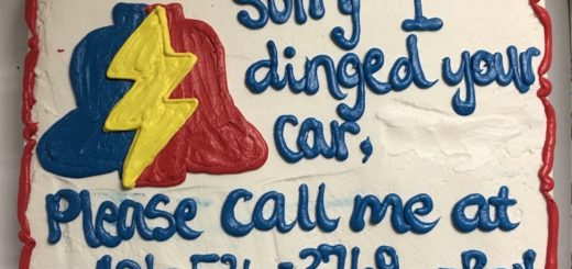 Thanks for making an updated PLA ding cake with the new phone number on it, Bamm Bamm!